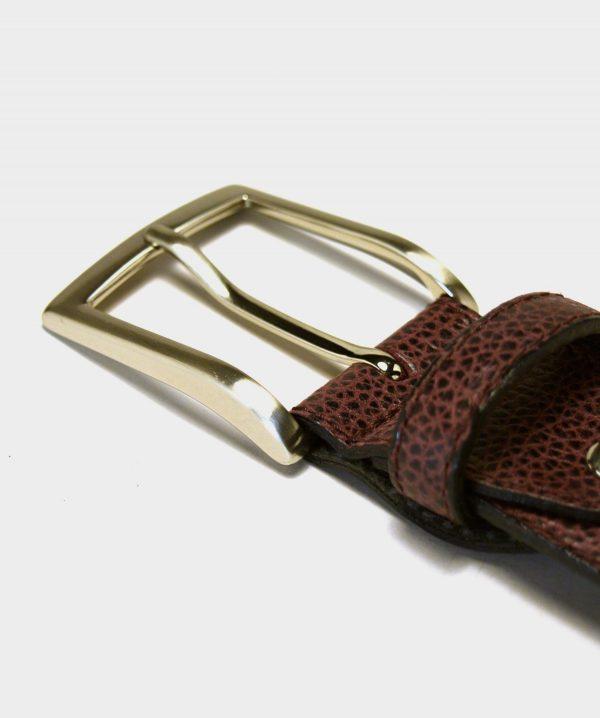 Cinturón Grabado Burdeos