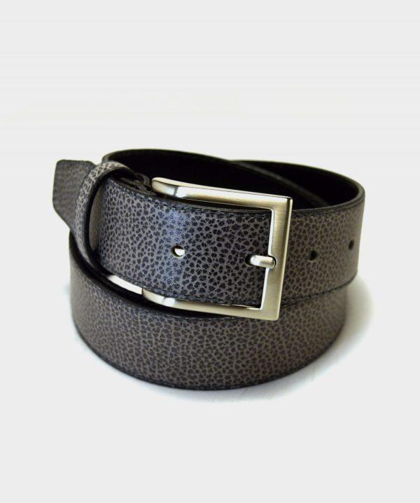 Cinturón Grabado Gris