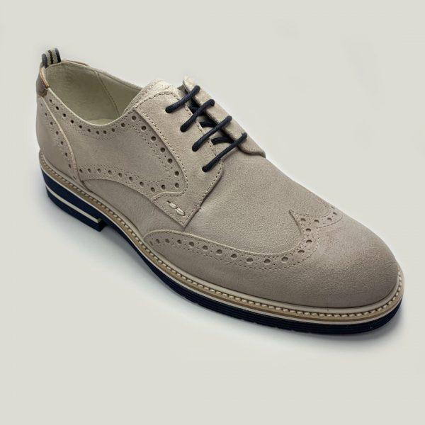 zapato blucher gris con cordones 2