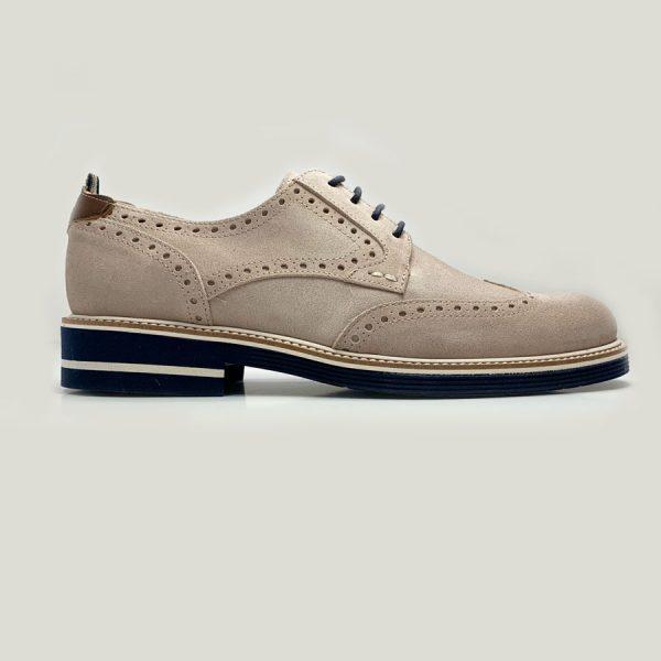 Zapato Seryey Blucher Gris con Cordones 2
