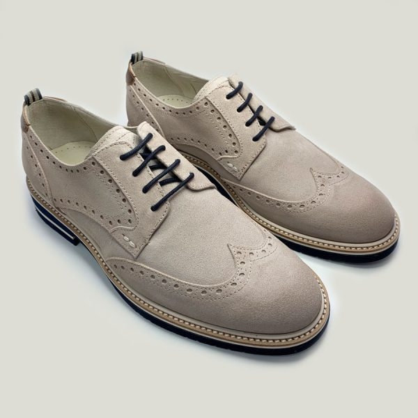 Zapato Seryey Blucher Gris con Cordones 4