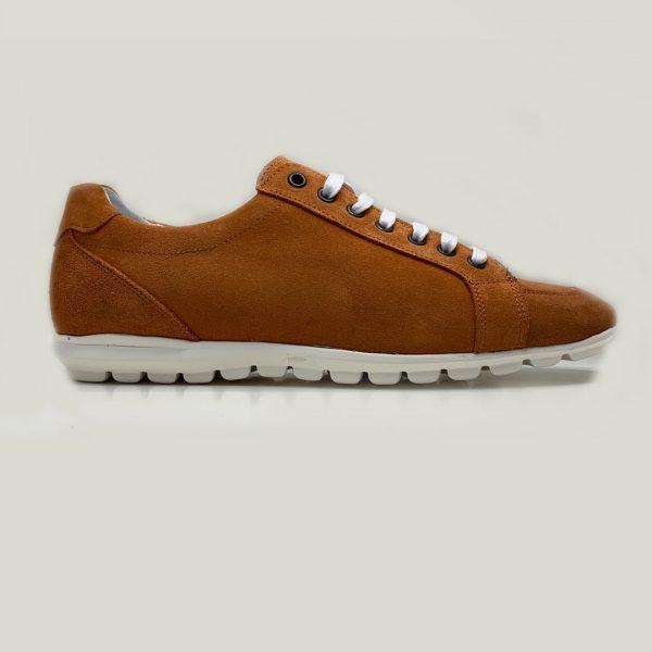 sneakers naranjas con cordones seryey